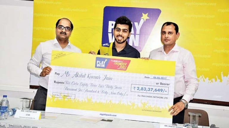 PlayWin Lottery Lucky Winner playing online lottery india