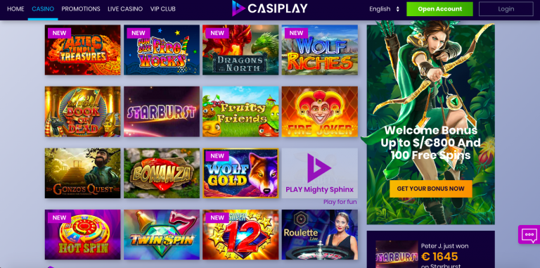 CasiPlay Games Selection