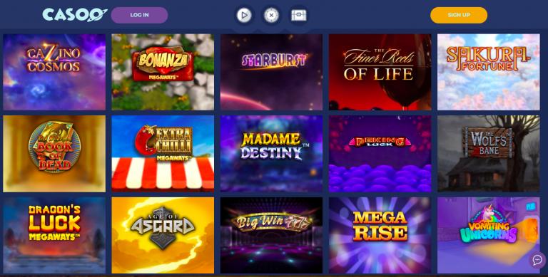 Casoo Casino Games Selection