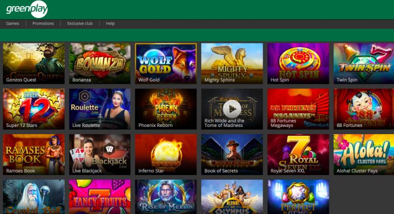 GreenPlay Casino Games List