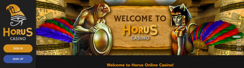 Horus Casino Homepage