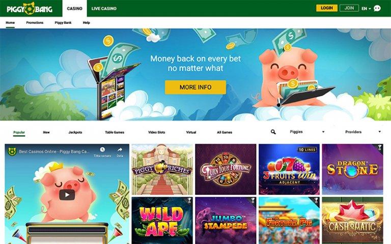 Piggy Bang Casino games