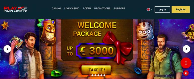 Play PCF Casino Welcome Bonus info