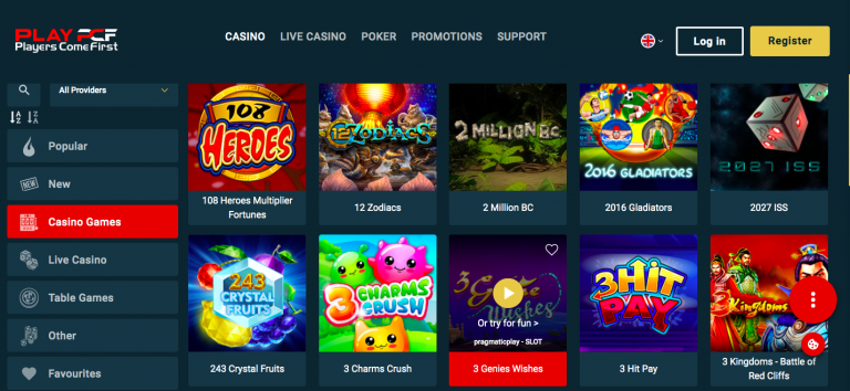 Play Pcf Casino Games List