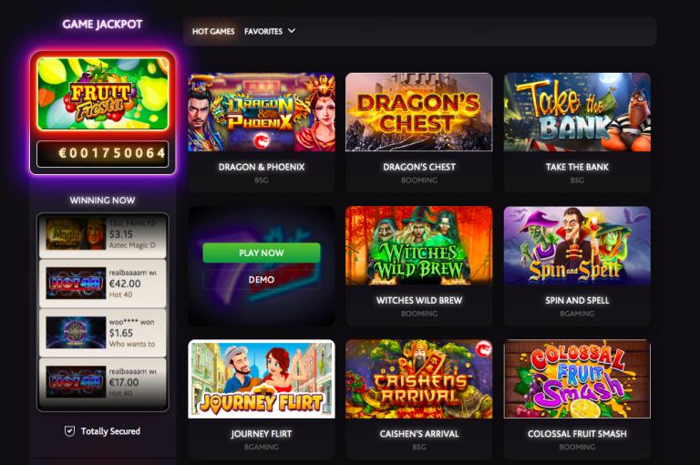 7Bit Casino Games page