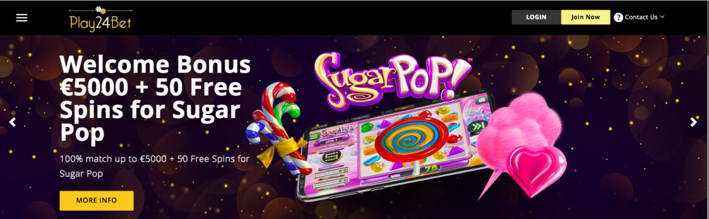 Play24Bet Casino Welcome Bonus Info
