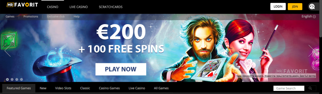 Mr Favorit Casino Welcome Bonus