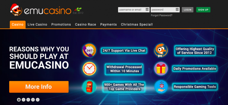 EmuCasino Home Page