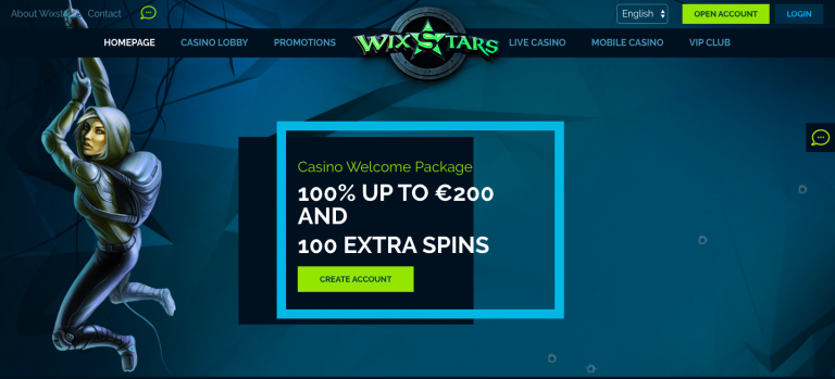 Wixstars Casino Welcome Package info